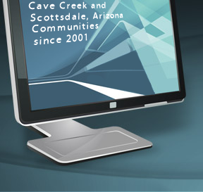 Right Center Header - Computer Monitor Screen Graphic - Cyberobjex - Serving the Carefree, Cave Creek and Scottsdale, Arizona Communities since 2001